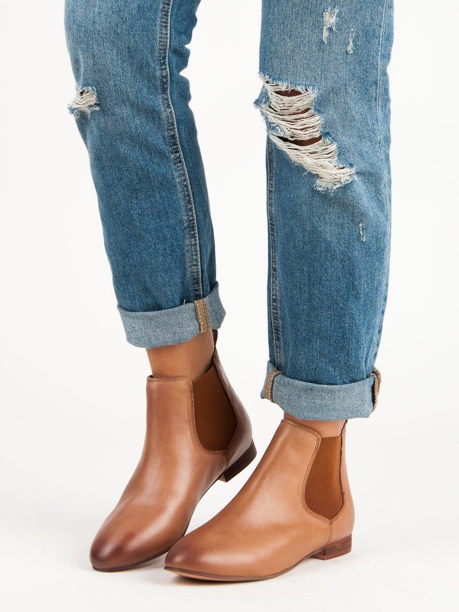 CNB Dámske členkové topánky R1992TAN 4b0c7c05963