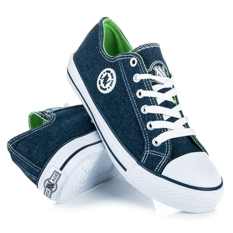 Klasicke damske modre tenisky 38  2bab0a85794