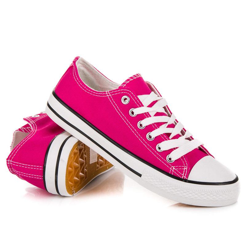 Klasické ružové kožené tenisky na platforme zn.Puma c095768317d