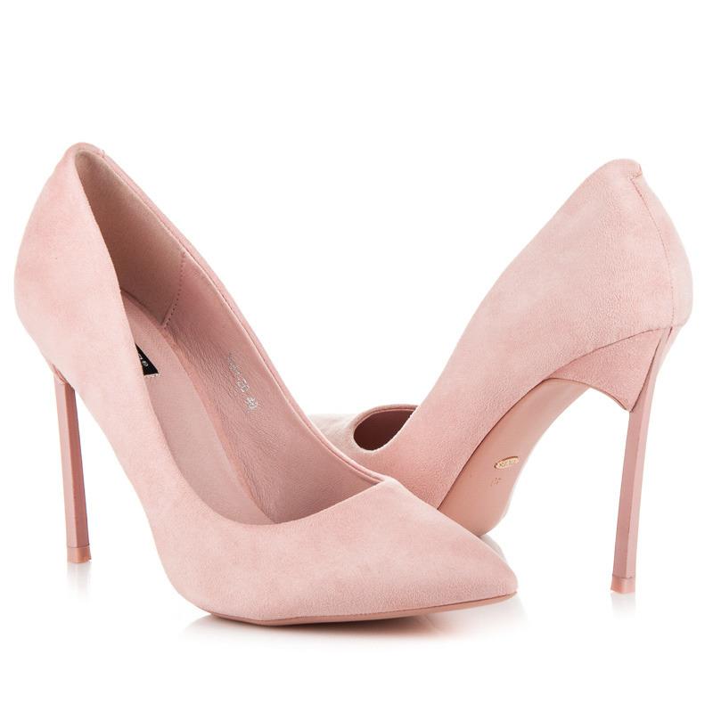 1bdee917f2 Elegantné ružové lodičky na ihlovom podpätku