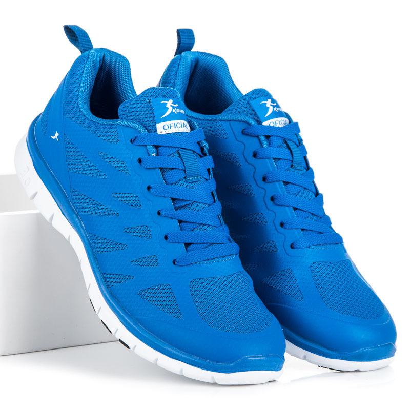 Jedinečné modré pánske športové tenisky  40c9ec54630