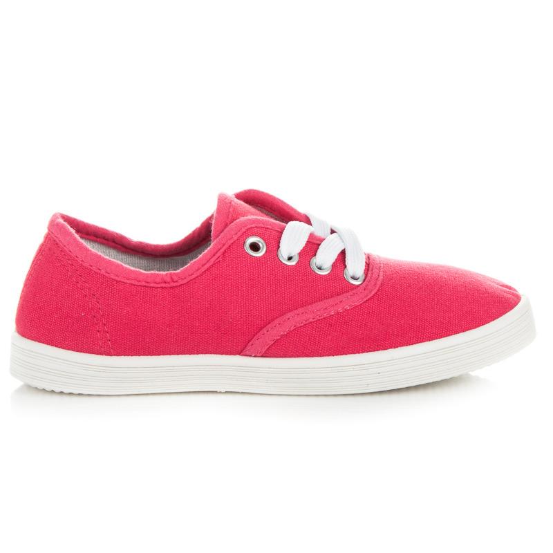 4bfbcf00f3e3 Krásne ružové detské tenisky na šnurovanie