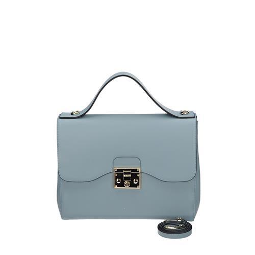 eb3c505cea Kvalitná modrá kožená kabelka cez rameno