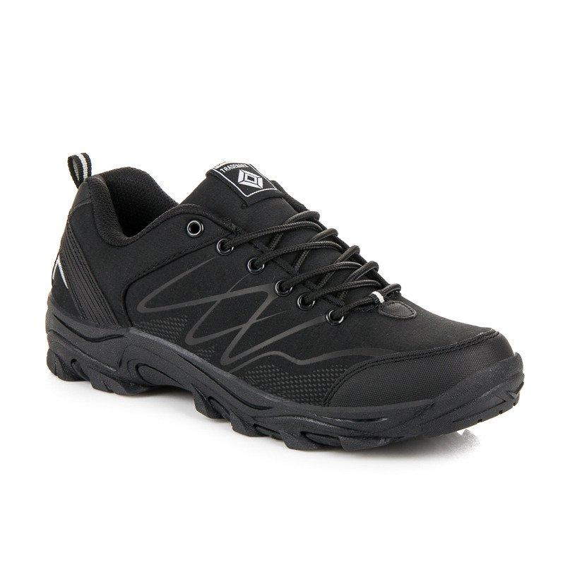 Kvalitné čierne pánske trekové topánky c7563d3b4a7