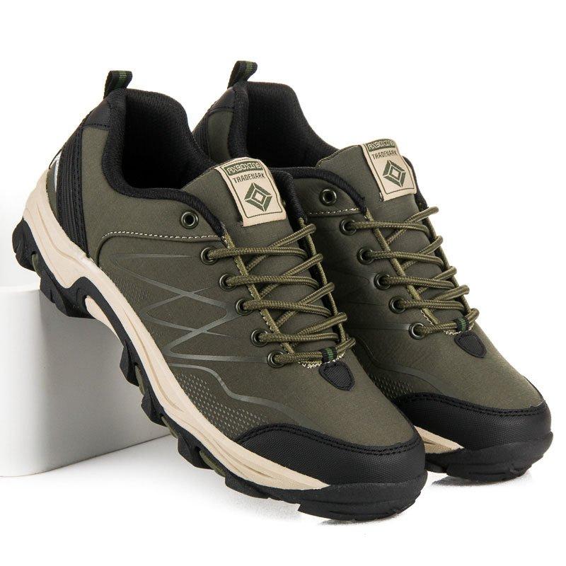 Kvalitné olivové pánske trekové topánky 5a1f5c6c13f