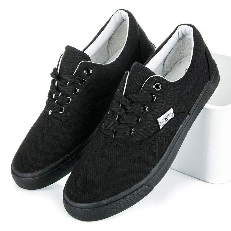 9fd04ce676da5 Luxusné čierne tenisky s čiernou podrážkou | AMIATEX.sk