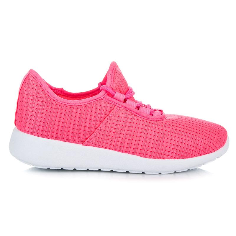 c2897acb5c1e Nádherné ružové tenisky na šnurovanie