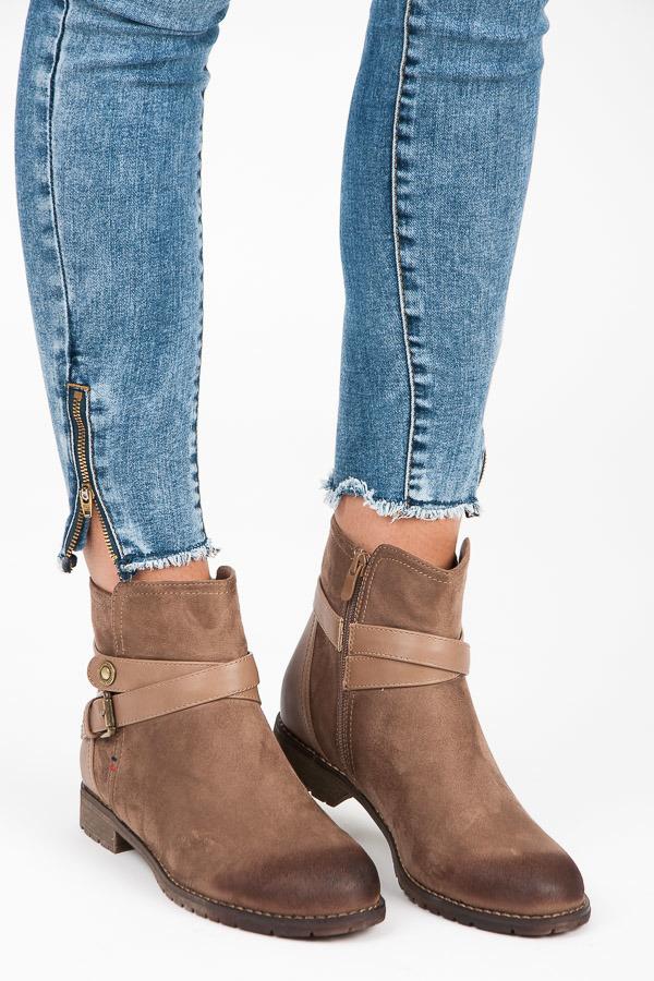 37d4c825fd Originálne hnedé členkové topánky s prackou
