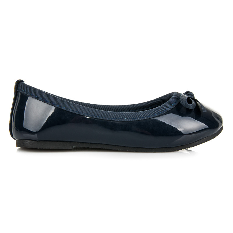 0324174f4a0a Pôvabné modré detské baleríny s gumičkou