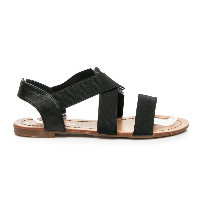 0377743188f4 Pohodlné čierne sandále s gumičkami