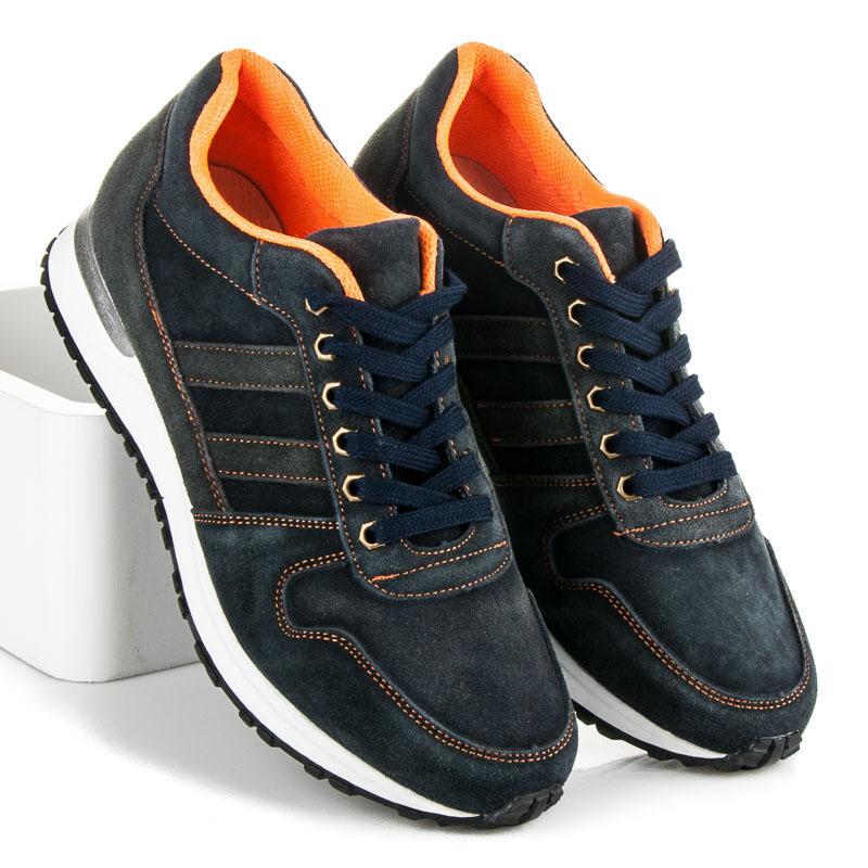 8e6efad4590bd Pohodlné modré pánske športové topánky   AMIATEX.sk