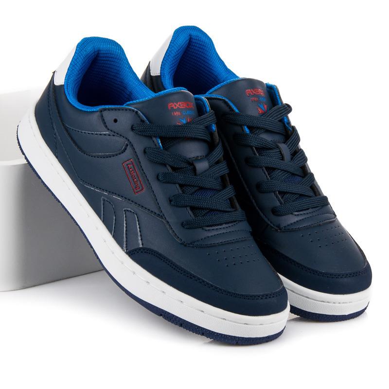f1089c3b07 Pohodlné modré sportovní pánské tenisky