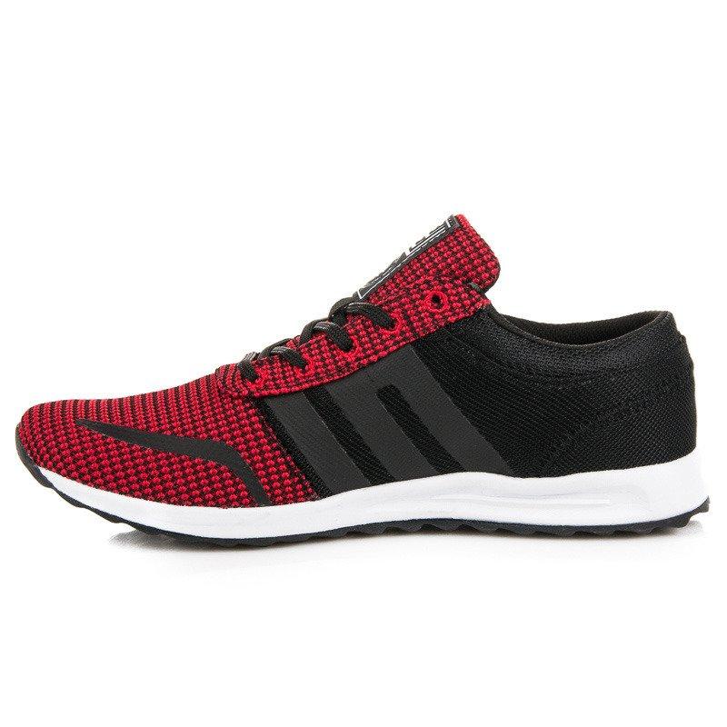 Textilné čierno-červené pánske športové tenisky 84a869f3afc