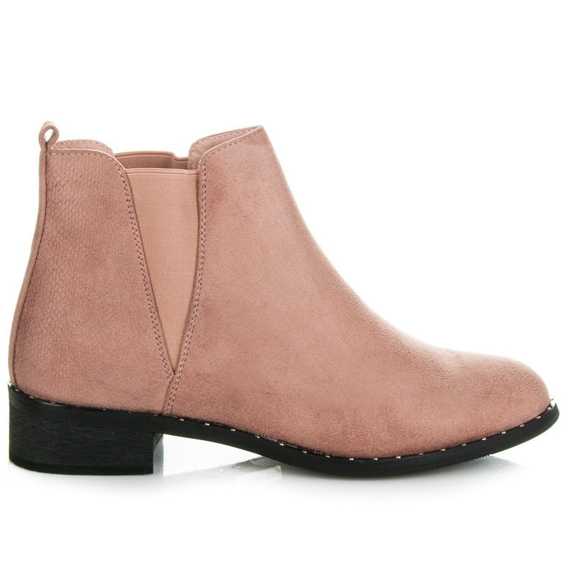8e745bf9f4 Ľahké ružové nízke kotníkové topánky s elastickými vsadkami