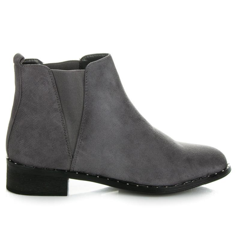 ed2ad327731f Ľahké sivé nízke kotníkové topánky s elastickými vsadkami