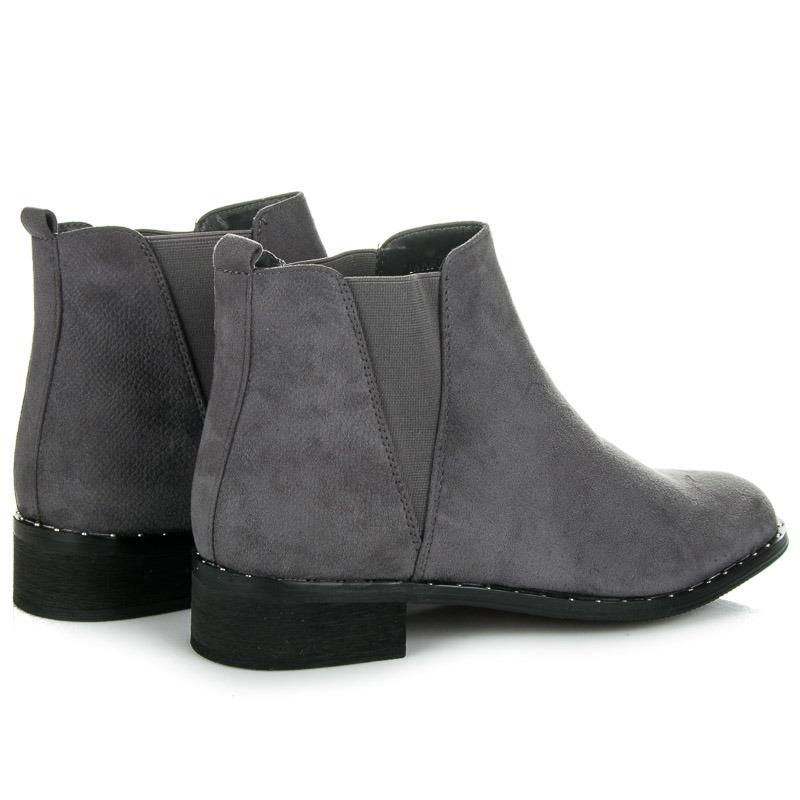 73f8e24b0cf8 ... Ľahké sivé nízke kotníkové topánky s elastickými vsadkami