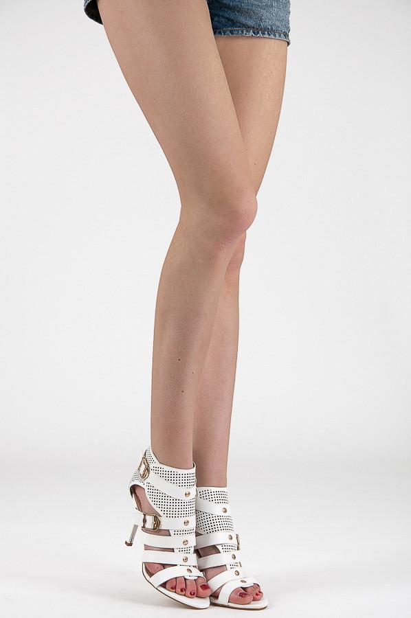 4d01d48a1006 ... Ažurové biele rímske dámske sandále ...