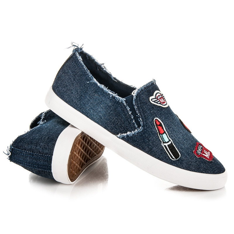 b492ee888d0a Bombastické tmavo modré džínsové tenisky