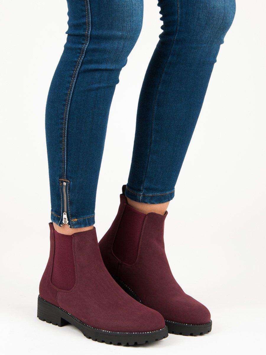 Casualové červené členkové topánky