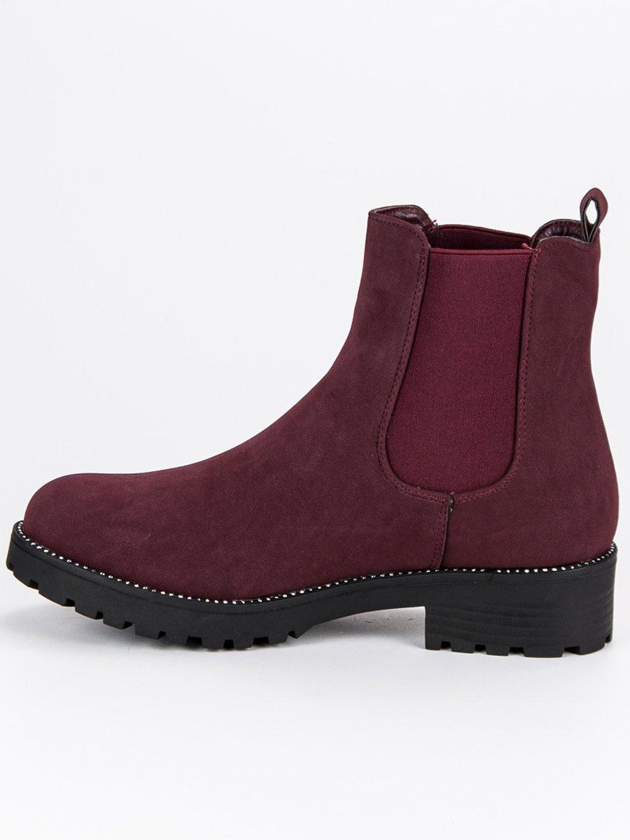 Casualové červené členkové topánky 0ff05b8ac97