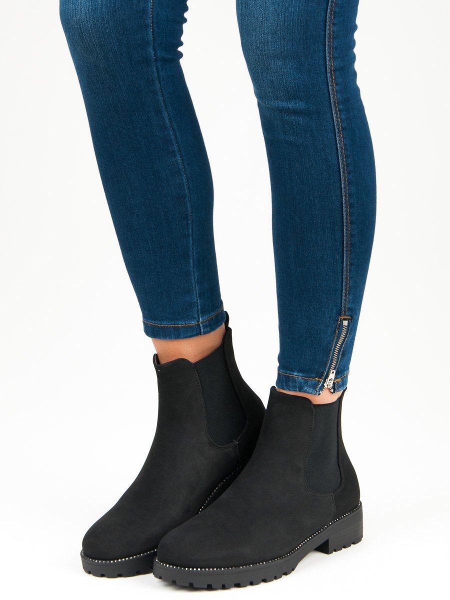 Casualové čierne členkové topánky  a1d79f7ef1c