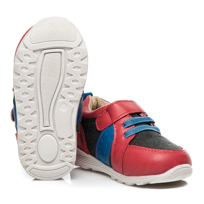 377c89b946 Červené športové detské topánky na suchý zips