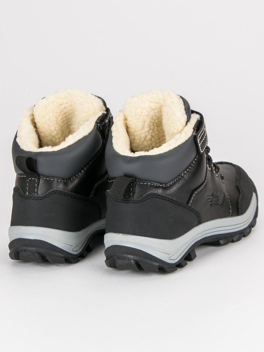 Čierne detské teplé zimné topánky  5cb2a954ba4