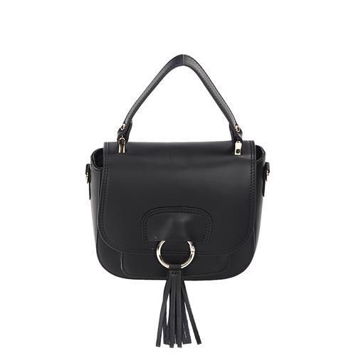 Dámska čierna luxusná kožená kabelka do ruky  ca0314a0550