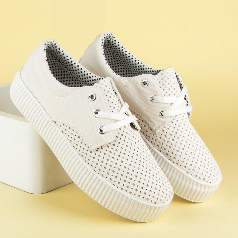 Dámske biele azúrové tenisky na platforme  38f060033bb