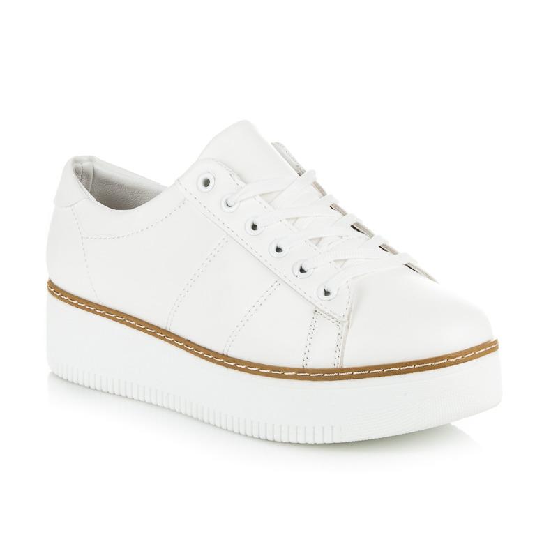 7515bdeeb5068 Dámske biele tenisky na platforme | AMIATEX.sk