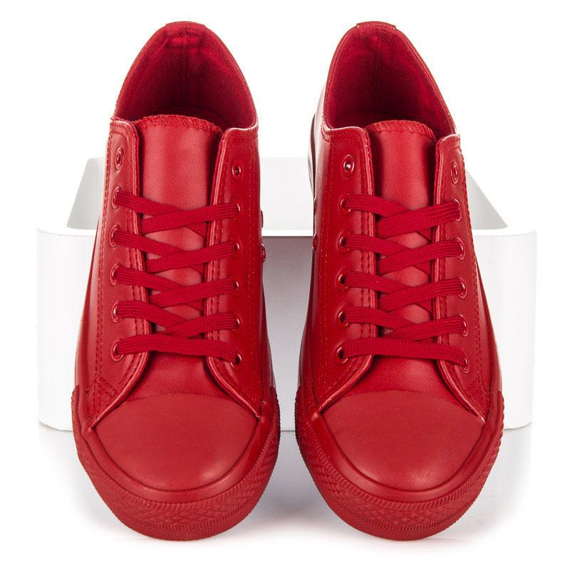Dámske červené tenisky na každý deň  b08af3e912