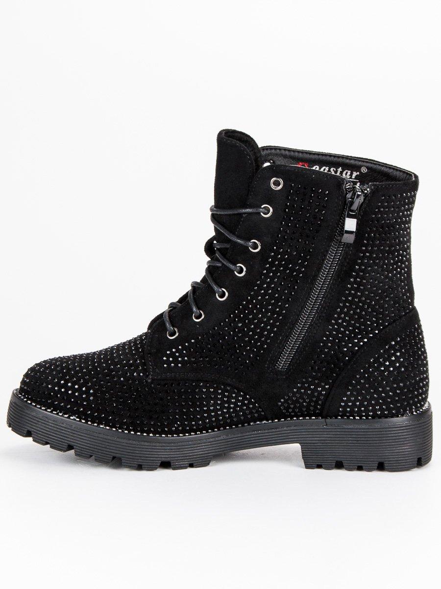 ddc0b936d4d2 ... Dámske čierne topánky s kamienkami ...