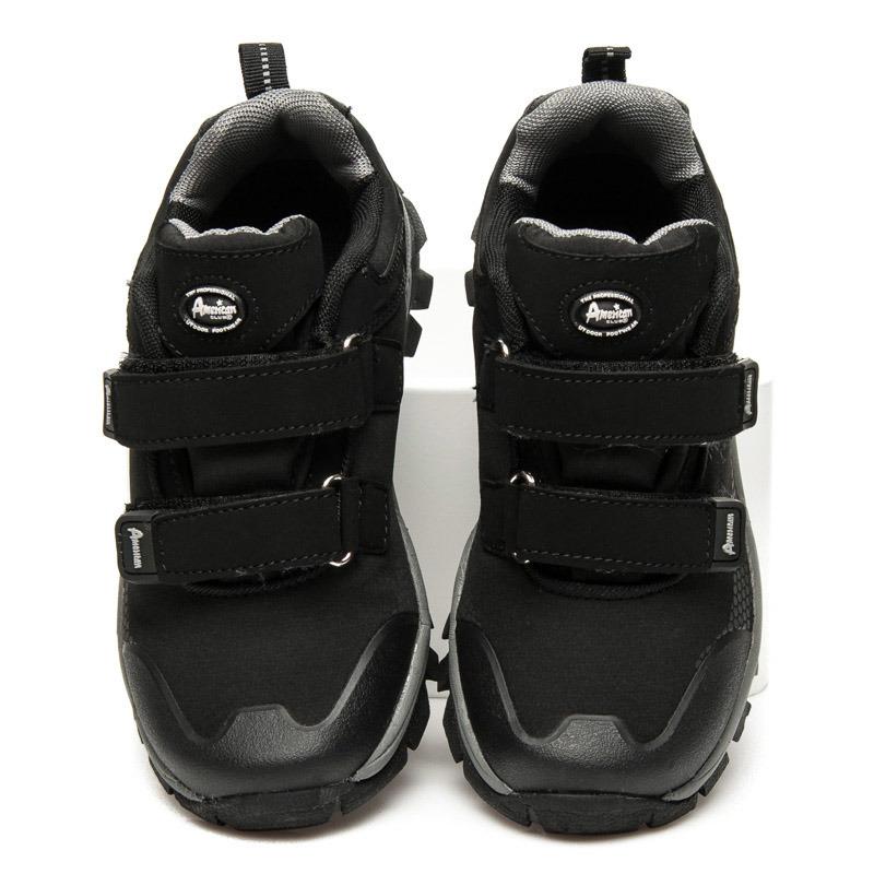 Dámske čierno-šedé športové botasky na suchý zips  85e538bee87