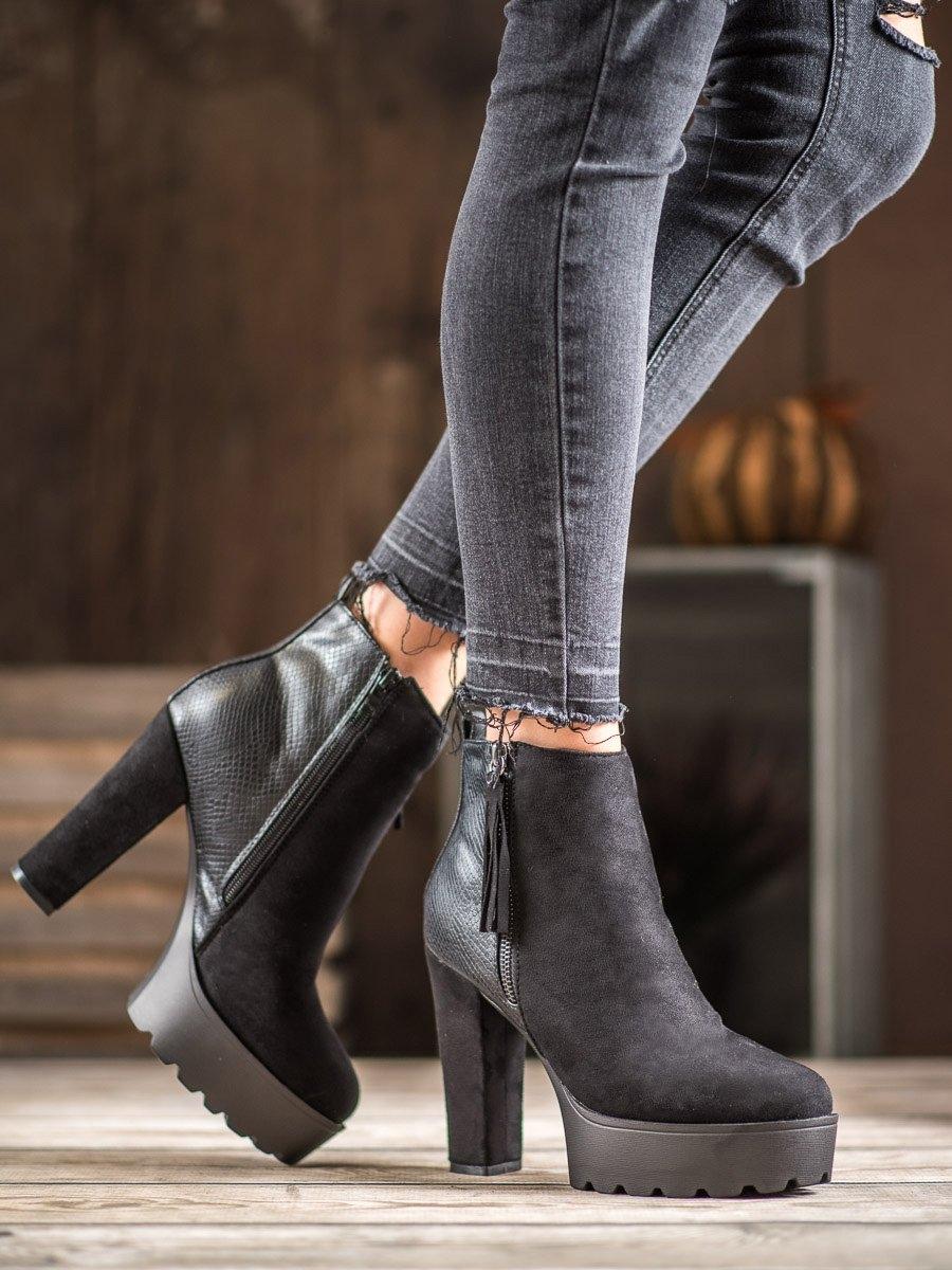 Dámske členkové topánky 60416