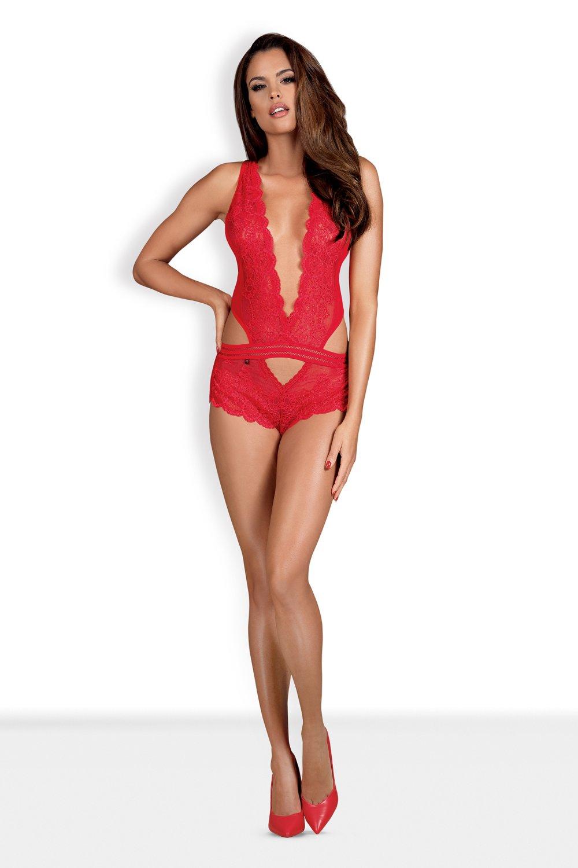 Dámske erotické body 853-TED red