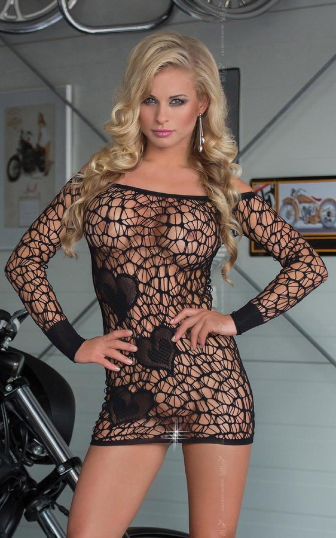 Dámske erotické šaty Sweetheart black