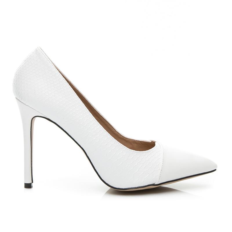 4ef8f188ca Dámske luxusné lodičky - biele