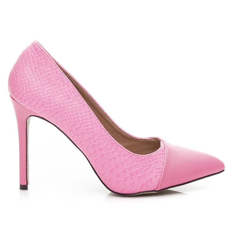 Dámske luxusné lodičky - ružové