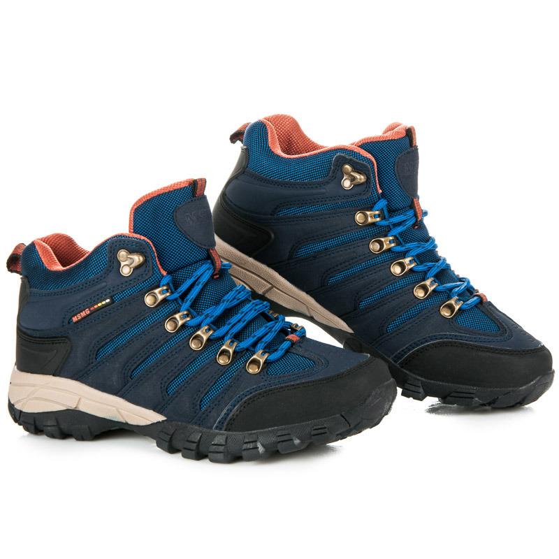 07a3b741ad023 Dámske modré trekové topánky v športovom štýle | AMIATEX.sk