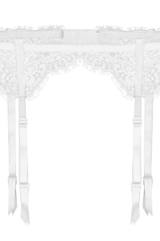 Dámske podväzkové pásy Fuchsia white