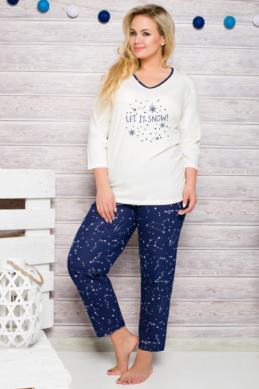 Dámske pyžamo 293 Lena ecru