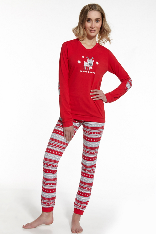 Dámske pyžamo 671/54 Reindeer red