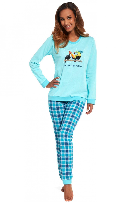 Dámske pyžamo Cornette pd 671/127 toucan turkusowy L