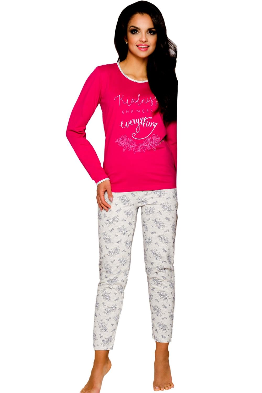 Dámske pyžamo Gabi 211 rapberry