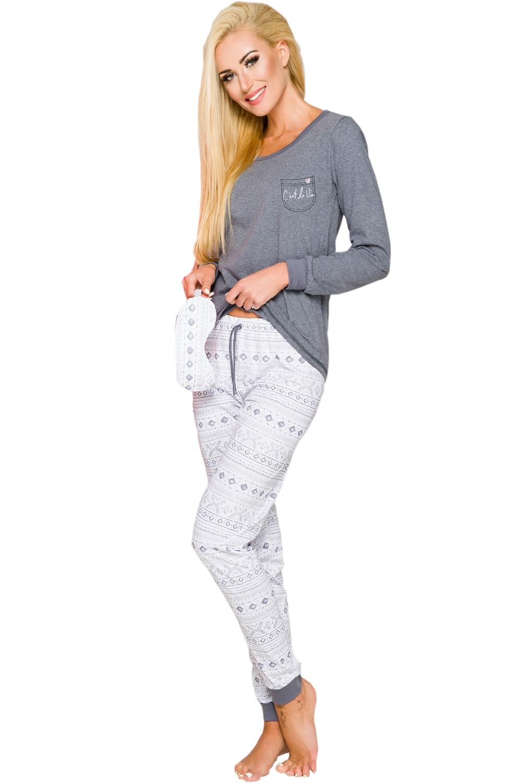 Dámske pyžamo Nora 2124 grey