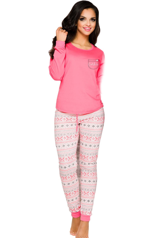 Dámske pyžamo Nora 2124 pink