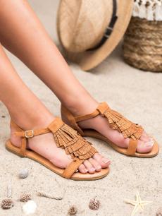 91806657b4cbd Módne ružové sandále s ozdobným pásikom okolo členku   AMIATEX.sk