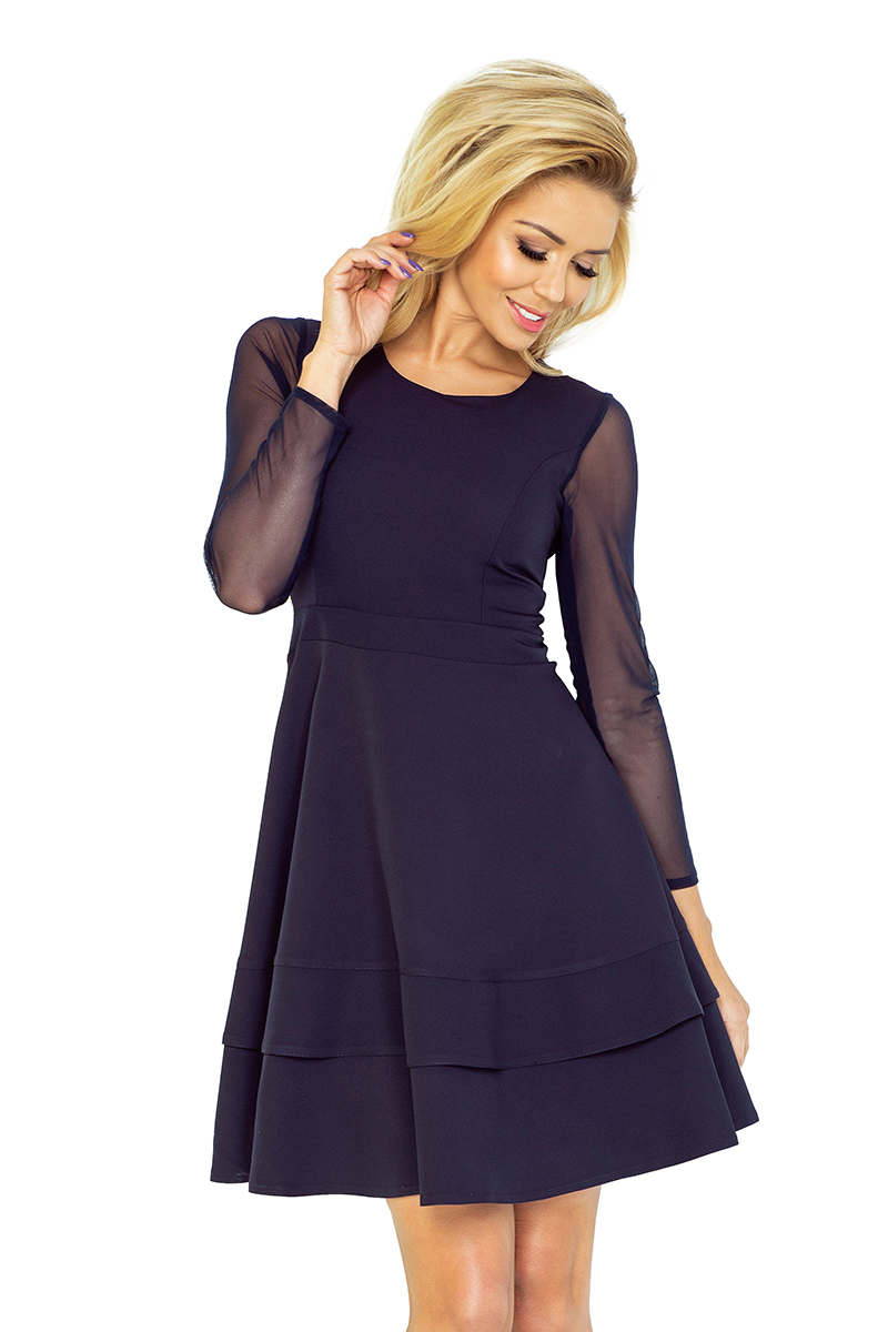 Dámske čierne mini šaty s veľkými ozdobnými kamienkami  Veľkosť ... a8854c9b80f