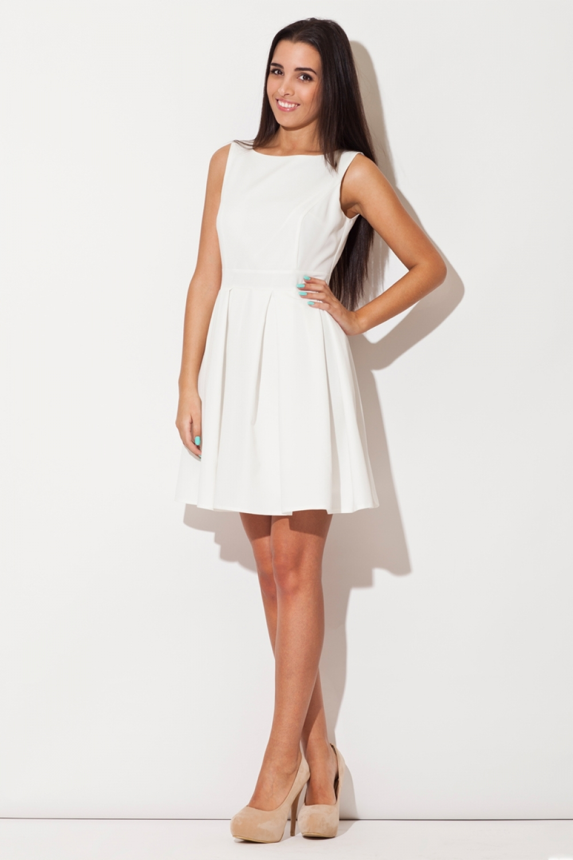 Dámske šaty K128 ecru