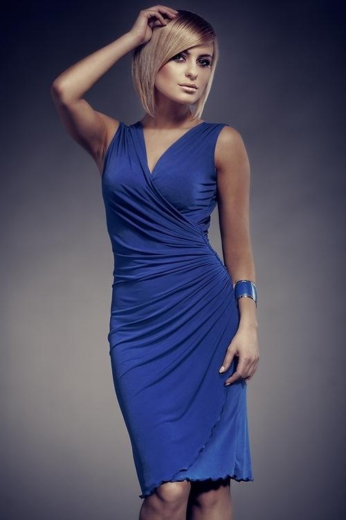 Dámske šaty M053 blue